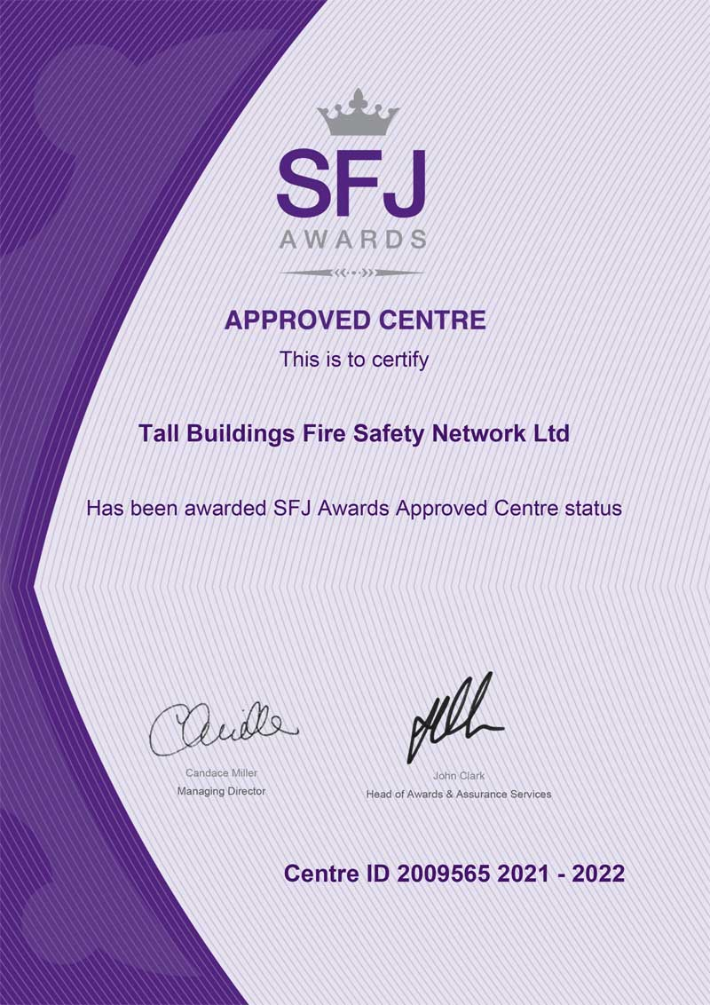 Image of TBFSN SFJ Approval Certificate 2021-2022 document